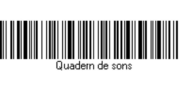 el nom del quadern en codi de barres