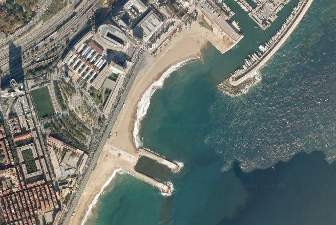 platja de la Barceloneta, buida