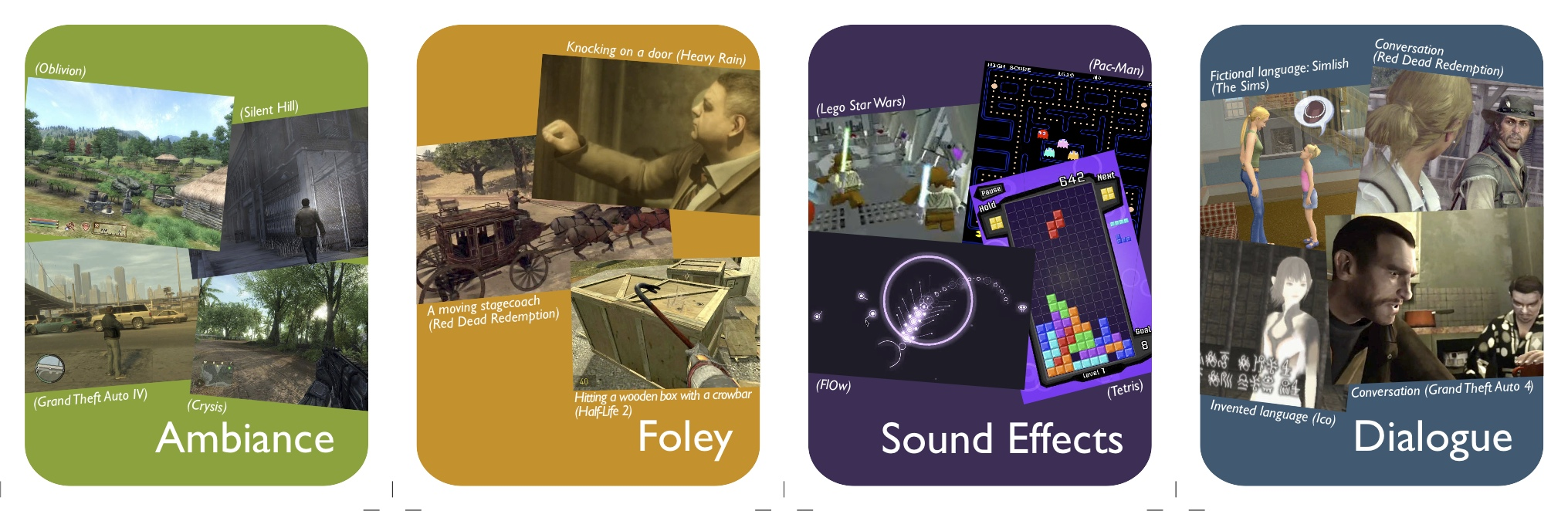 Sound In Games - cards